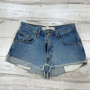 Levi's High Waisted Distressed Vintage Shorts 30